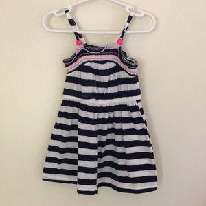 Circo navy and white striped dress